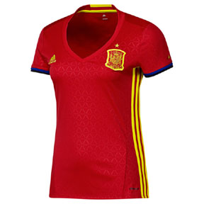 adidas Womens  Spain  Soccer Jersey (Home 2016)