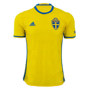 adidas Youth  Sweden  Soccer Jersey (Home 2016)