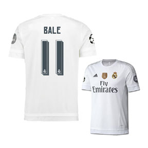 adidas Real Madrid Bale #11 UCL Soccer Jersey (Home 15/16)