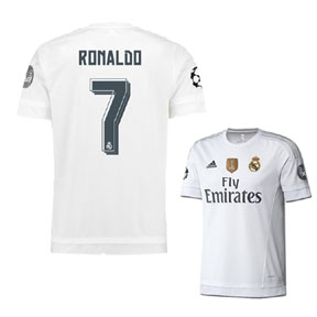 adidas  Real Madrid  Ronaldo #7 UCL Soccer Jersey (Home 15/16)