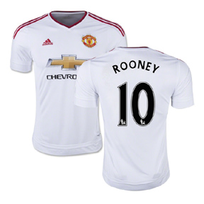 adidas Manchester United Rooney #10 Soccer Jersey (Away 15/16)