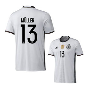 adidas Germany Muller #13 Soccer Jersey (Home 16/17)