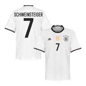 adidas  Germany  Schweinsteiger #7 Soccer Jersey (Home 2016)
