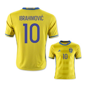 adidas Youth  Sweden Ibrahimovic #10 Soccer Jersey (Home 2015/16)