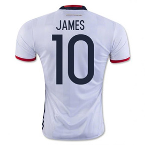 adidas  Colombia  James Rodriguez #10 Soccer Jersey (Home 16/17)