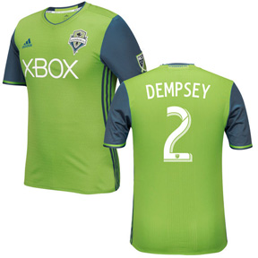 adidas  Seattle Sounders Dempsey #2 Jersey (Home 16/17)