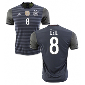 adidas  Germany  Ozil #8 Soccer Jersey (Away 2016)