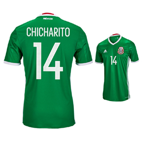 adidas  Mexico  Chicharito #14 Soccer Jersey (Home 2016/17)