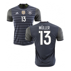 adidas Youth  Germany  Muller #13 Soccer Jersey (Away 2016)