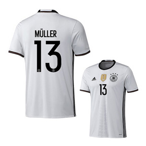 adidas Youth  Germany  Muller #13 Soccer Jersey (Home 2016)