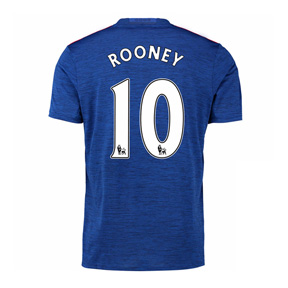 adidas  Manchester United Rooney #10 Soccer Jersey (Away 2016/17)