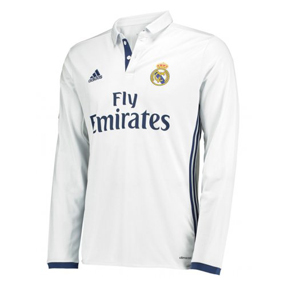 adidas  Real Madrid  Long Sleeve Soccer Jersey (Home 2016/17)