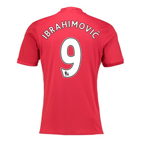 adidas  Manchester United Ibrahimovic #9 Jersey (Home 16/17)