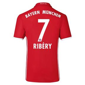 adidas  Bayern Munich  Ribery #7 Soccer Jersey (Home 2016/17)