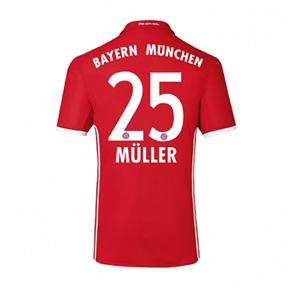 adidas  Bayern Munich  Muller #25 Soccer Jersey (Home 2016/17)