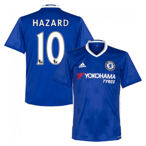 adidas Youth  Chelsea Hazard  #10 Soccer Jersey (Home 2016/17)
