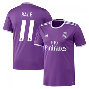 adidas  Real Madrid  Bale #11 Soccer Jersey (Away 2016/17)