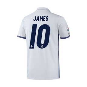 adidas Youth   Real Madrid  James #10 Soccer Jersey (Home 2016/17)
