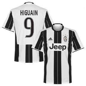 adidas  Juventus  Higuain #9  Soccer Jersey (Home 2016/17)