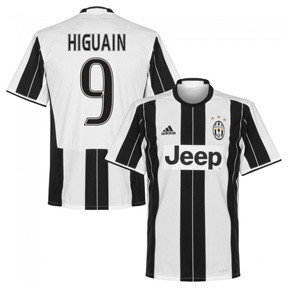 adidas Youth  Juventus Higuain #9 Soccer Jersey (Home 2016/17)