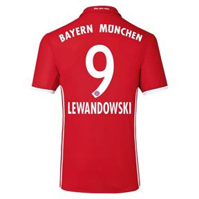 adidas Youth  Bayern Munich Lewandowski #9 Jersey (Home 16/17)