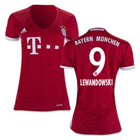 adidas Womens  Bayern Munich  Lewandowski #9 Jersey (2016/17)