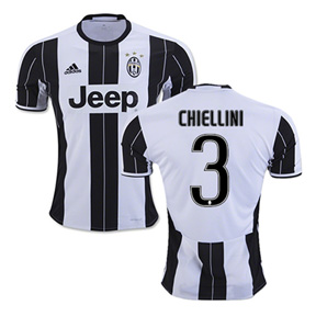 adidas  Juventus  Chiellini #3  Soccer Jersey (Home 2016/17)