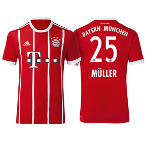 adidas Youth  Bayern Munich   Muller #25 Jersey (Home 17/18)