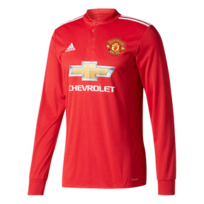 adidas  Manchester United  Long Sleeve Soccer Jersey (Home 17/18)