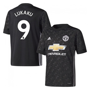 adidas Youth  Manchester United  Lukaku #9 Soccer Jersey (Away 17/18)