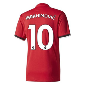 adidas  Manchester United  Ibrahimovic #10 Soccer Jersey (Home 17/18)
