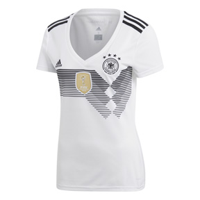 Adidas womens germany world cup 2018 soccer jersey home for Germany mercedes benz soccer jersey