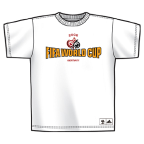 adidas World Cup 2006 Logo Soccer Tee (White)