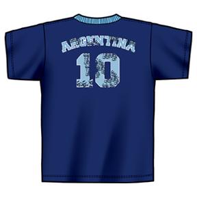 adidas World Cup 2006 Argentina #10 Soccer Tee