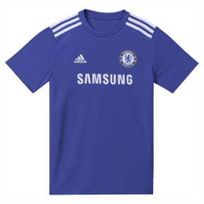 adidas Youth Chelsea Soccer Jersey Tee (Home 2014/15)