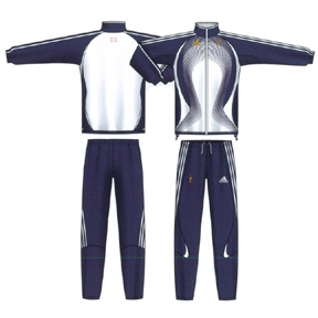 adidas France Soccer Presentation Suit (Marine Blue/White)
