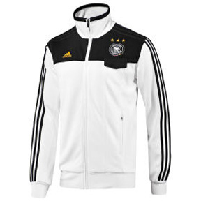 adidas Germany Soccer Track Top (White/Black Euro 2008)