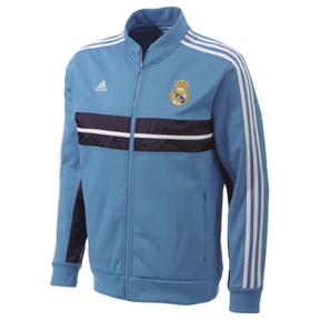 Adidas real madrid anthem soccer track top turquoise