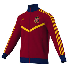 adidas Spain World Cup 2014 Soccer Track Top (University Red)