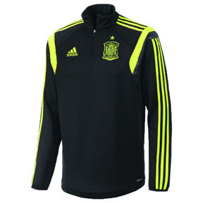 adidas Spain World Cup 2014 Soccer Track Top (Black/Electricity)