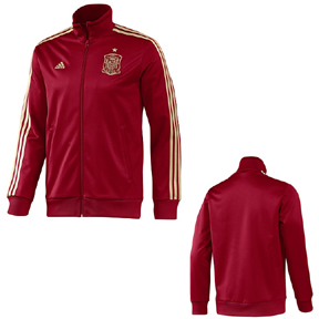 adidas Spain World Cup 2014 Soccer Track Top (Victor Red)