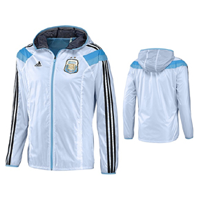 adidas Argentina World Cup 2014 Soccer Track Top (White/Blue)