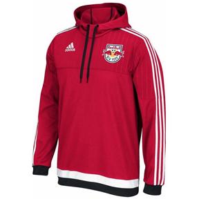 adidas  NY Red Bulls Anthem Soccer Hoody (Red/White/Navy)