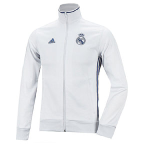 adidas  Real Madrid  3-Stripes Soccer Track Top (White/Purple 16/17)