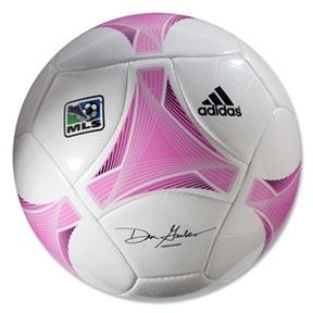 adidas 2013 MLS Glider Prime Soccer Ball (White/Pink)
