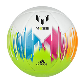 adidas  Lionel Messi Training Soccer Ball (Solar Slime)