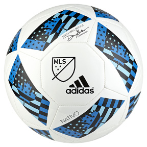 adidas MLS 2016 Top Glider Soccer Ball (White/Blue)