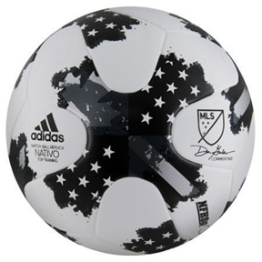adidas MLS  Nativo Top Training Soccer Ball (White/Black - 2017)