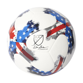 adidas MLS  Nativo Top Glider Soccer Ball (White/Red/Blue - 2017)