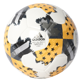 adidas  MLS Nativo Glider Soccer Ball (White/Gold - 2017)